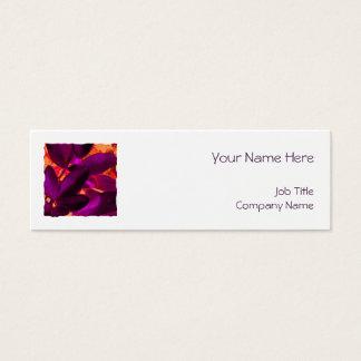 Choisya Autumn 3 square template white skinny Mini Business Card