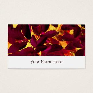 Choisya Autumn business card stripe white
