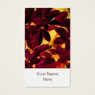 Choisya Autumn business card white portrait