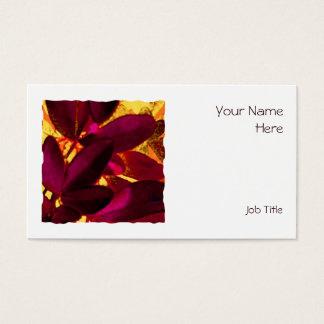 Choisya Autumn square business card white