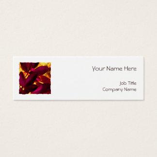 Choisya Autumn square template white skinny Mini Business Card