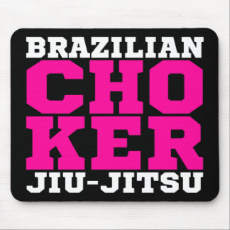 CHOKER - I Love Brazilian Jiu-Jitsu v08, White Mouse Pad