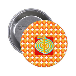 CHOKURAY : CHO KU RAY Reiki Healing Symbol 6 Cm Round Badge