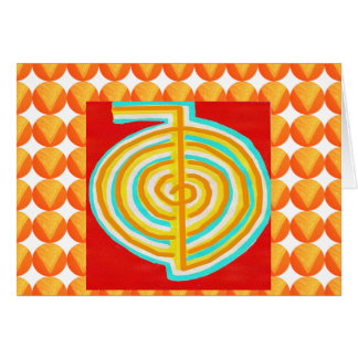 CHOKURAY : CHO KU RAY Reiki Healing Symbol Greeting Card