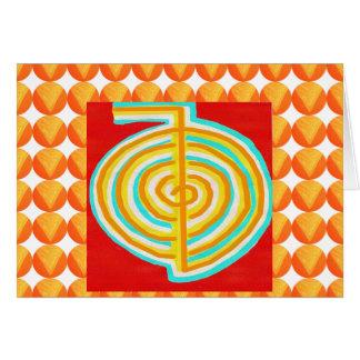 CHOKURAY : CHO KU RAY Reiki Healing Symbol Greeting Card