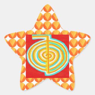 CHOKURAY : CHO KU RAY Reiki Healing Symbol Star Sticker