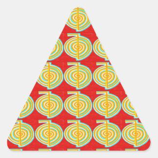 CHOKURAY : CHO KU RAY Reiki Healing Symbol Triangle Sticker