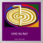 CHOKURAY Gold  - basic Reiki Symbol Poster