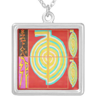 CHOKURAY Gold with Reiki Symbols Silver Plated Necklace