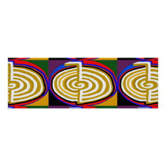 CHOKURAY Reiki Basic Healing Symbol Poster