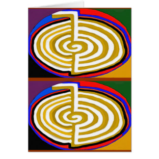 CHOKURAY REIKIHEALINGSYMBOL HEALING GREETING CARD