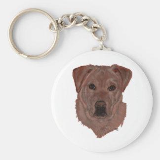 Cholcolate Brown Labrador Retriever Key Chain