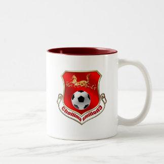 Chollima Too swift to mount North Korean soccer Two-Tone Mug