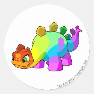 Chomby Rainbow Round Sticker