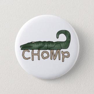 Chomp Alligator 6 Cm Round Badge