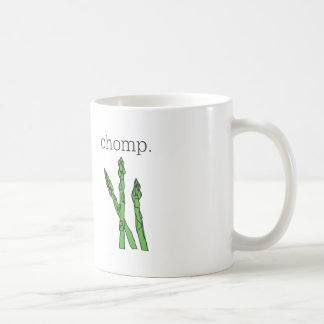 chomp. (asparagus) coffee mug