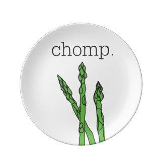 chomp. (asparagus) porcelain plates