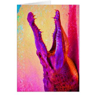 Chomp! Chomp! Rainbow Gator! Greeting Card