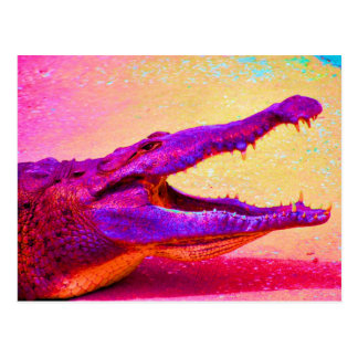 Chomp Chomp Rainbow Gator Post Card