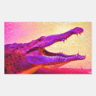 Chomp! Chomp! Rainbow Gator! Rectangular Sticker