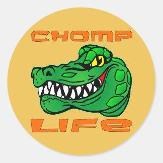 Chomp Life Gator Round Sticker