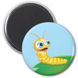 Chomp the Grub :: 6 Cm Round Magnet