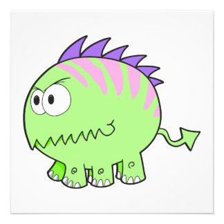 chompy spikey green pet monster custom announcements