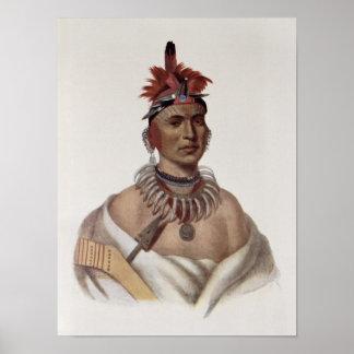 Chon-Ca-Pe or 'Big Kansas', an Oto Chief Poster