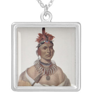 Chon-Ca-Pe or 'Big Kansas', an Oto Chief Silver Plated Necklace
