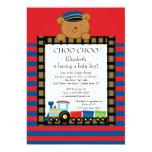 Choo Choo Baby Train Boy Baby Shower Invitation