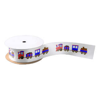 Choo-Choo colorful cartoon train satin kids Satin Ribbon