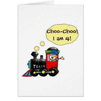 Choo-Choo I am 4 Greeting Card