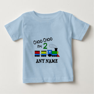 Choo Choo I'm 2!  With TRAIN Baby T-Shirt