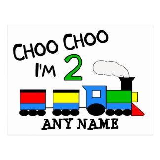 Choo Choo I'm 2!  With TRAIN Postcard