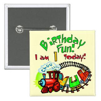Choo Choo Train 1st Birthday Tshirts and Gifts 15 Cm Square Badge