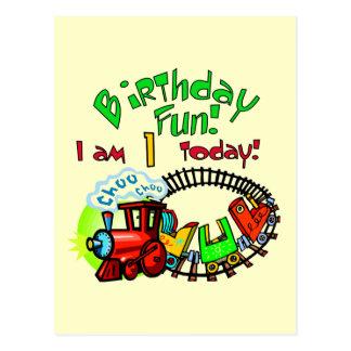 Choo Choo Train 1st Birthday Tshirts and Gifts Postcard