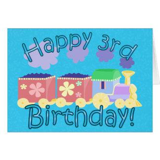 Choo Choo Train 3rd Birthday Card