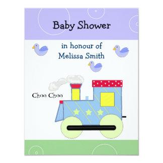 Choo Choo Train Baby Shower 11 Cm X 14 Cm Invitation Card