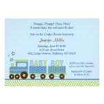 Choo Choo Train Baby Shower Invitations