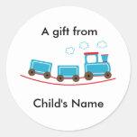 Choo Choo Train Birthday Goodie Bag Labels Round Sticker