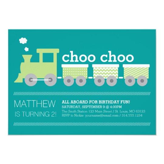 Choo Choo Train Birthday Invitation