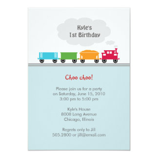 Choo Choo Train Birthday Party Invitation