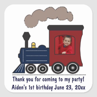 Choo Choo Train Birthday Stickers