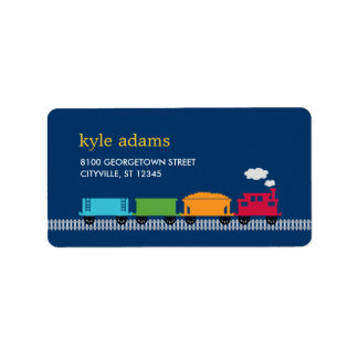 Choo Choo Train Kids Address Label