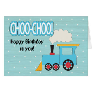 Choo Choo Train Kids Birthday Card