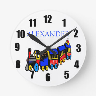 Choo-Choo Train & Name Round Clock