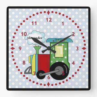 Choo Choo Train Nursery Wall Clock