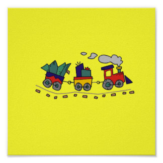 Choo Choo Train Poster up to 15x15