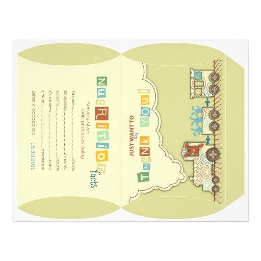 Choo Choo Train Puff Box Template Flyer Design