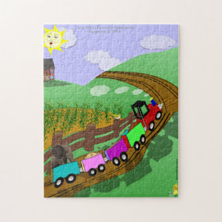 Choo choo train puzzle - Prize at Themed Party